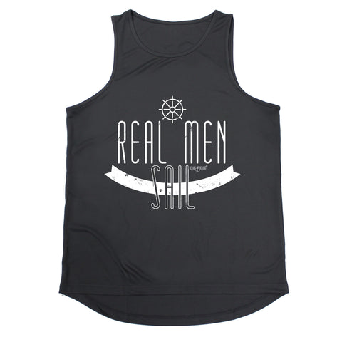Ocean Bound Real Men Sail Sailing Men's Training Vest