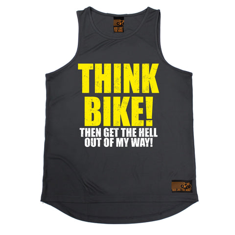 Ride Like The Wind Think Bike ... Out Of My Way Cycling Men's Training Vest