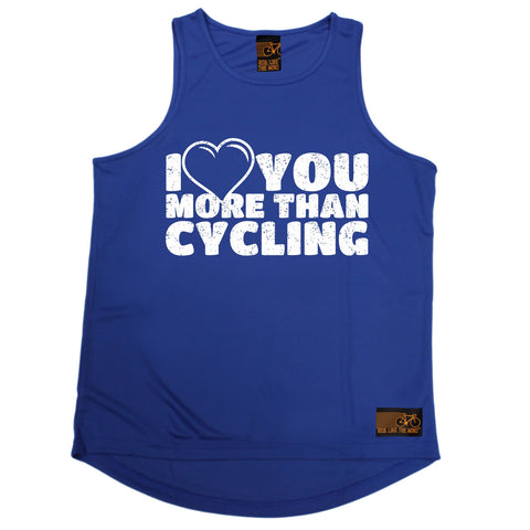 Ride Like The Wind I Love You More Than Cycling Men's Training Vest