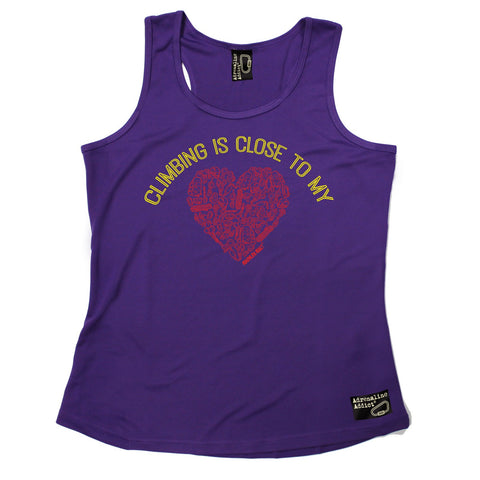 Adrenaline Addict Climbing Is Close To My Heart Rock Climbing Girlie Training Vest