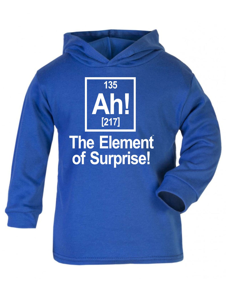 123t Baby Ah The Element Of Surprise Funny Toddlers Cotton Hoodie - 123t clothing gifts presents