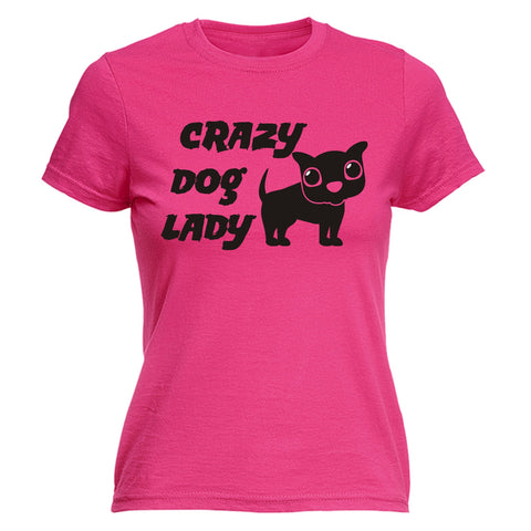 123t Women's Crazy Dog Lady Funny T-Shirt