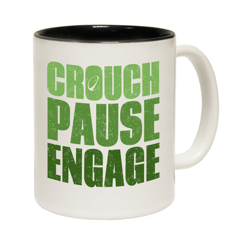 Up And Under Crouch Pause Engage Funny Rugby Mug