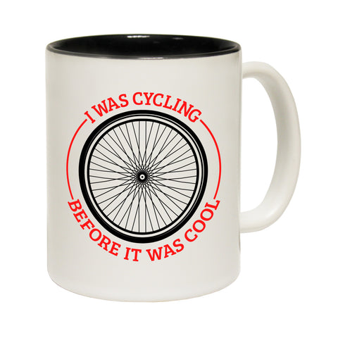 Ride Like The Wind I Was Cycling Before It Was Cool Funny Mug