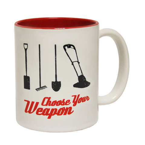 123t Choose Your Weapon Gardener Funny Mug