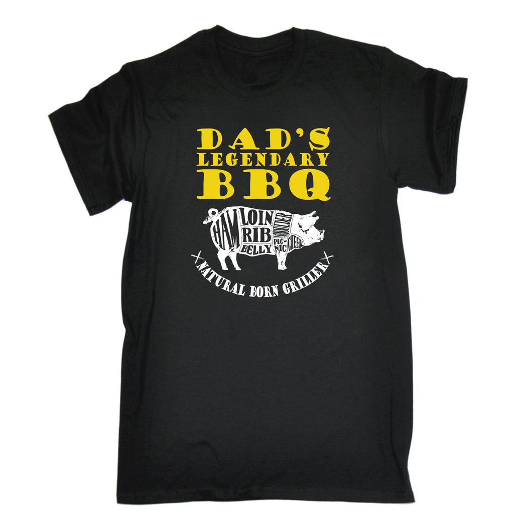 123t Men's Dad's Legendary Bbq Natural Born Griller Funny T-Shirt