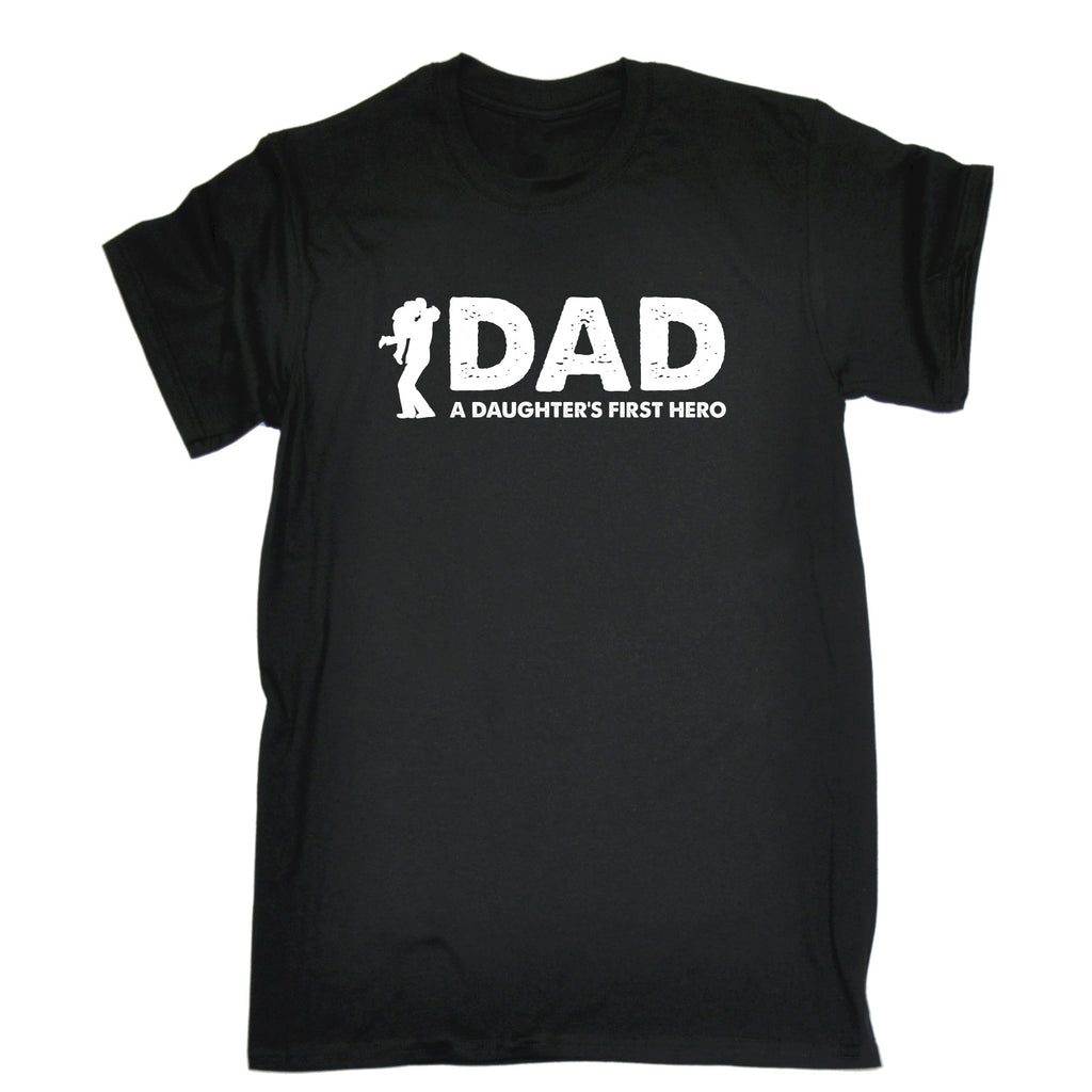 123t Men's Dad A Daughter's First Hero Funny T-Shirt