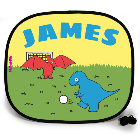 Ani-Mates Dinosaur Football Personalised UV Protection Fun Vehicle Interior Window Car Sunshade