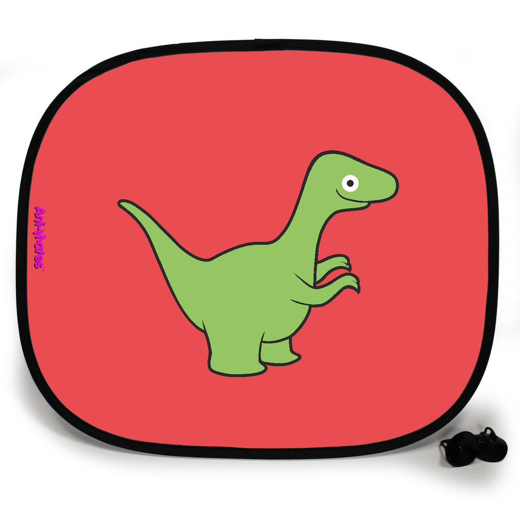 Ani-Mates Dinosaur Velociraptor Personalised UV Protection Fun Vehicle Interior Window Car Sunshade