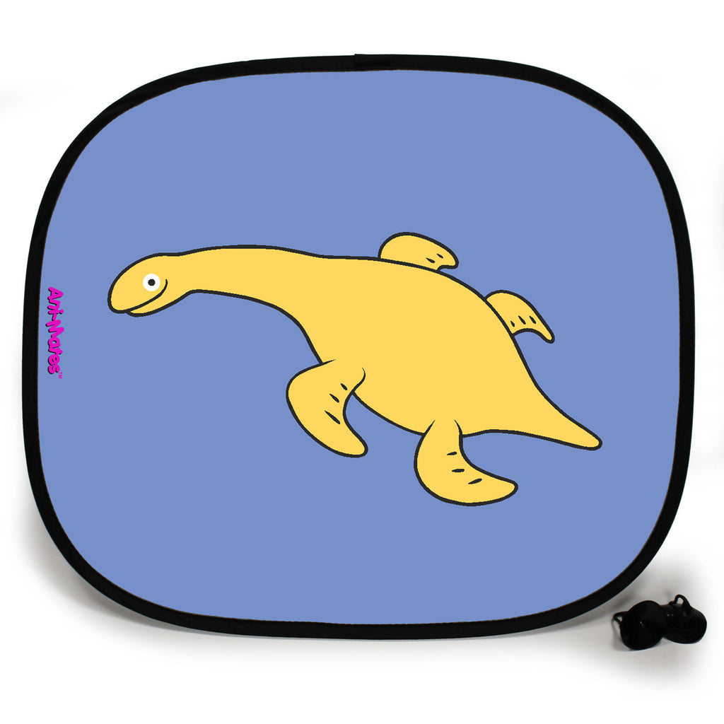 Ani-Mates Dinosaur Rhomaleosaurus Personalised UV Protection Fun Vehicle Interior Window Car Sunshade