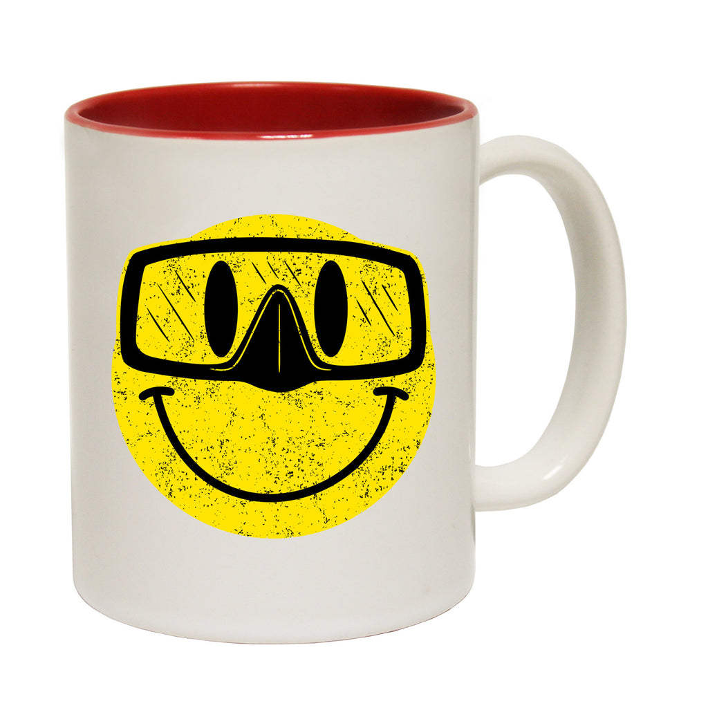 Open Water Smiley Goggles Funny Scuba Diving Mug