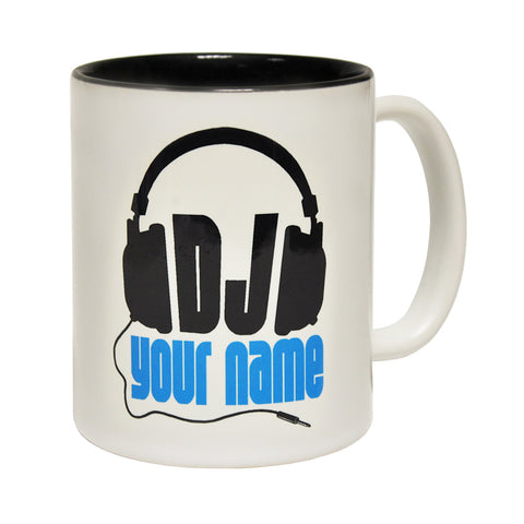 123t DJ Your Name Personalised Design Funny Mug