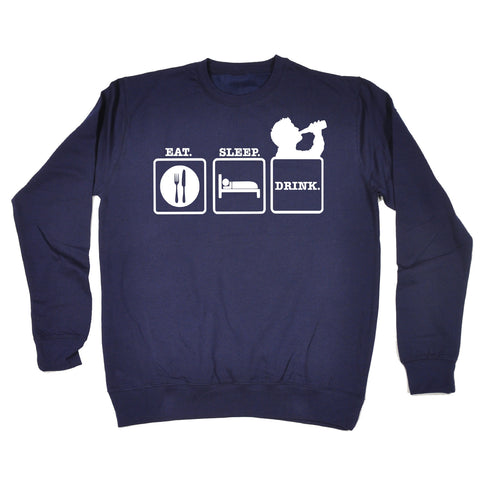 123t Eat Sleep Drink Design 2 Funny Sweatshirt, 123t
