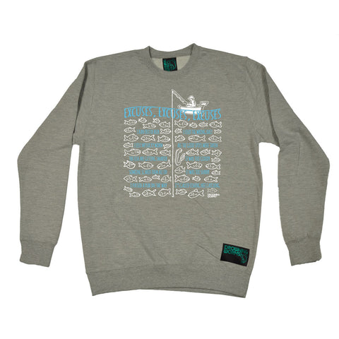 Drowning Worms Fishing Excuses Sweatshirt