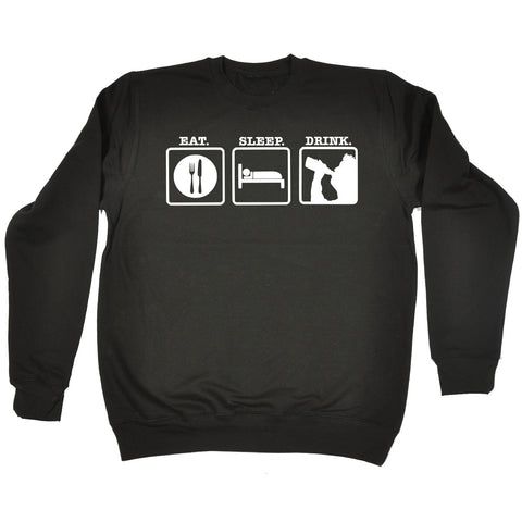 123t Eat Sleep Drink Funny Sweatshirt, 123t