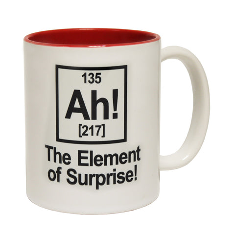 123t Ah The Element Of Surprise Design Funny Mug - 123t clothing gifts presents