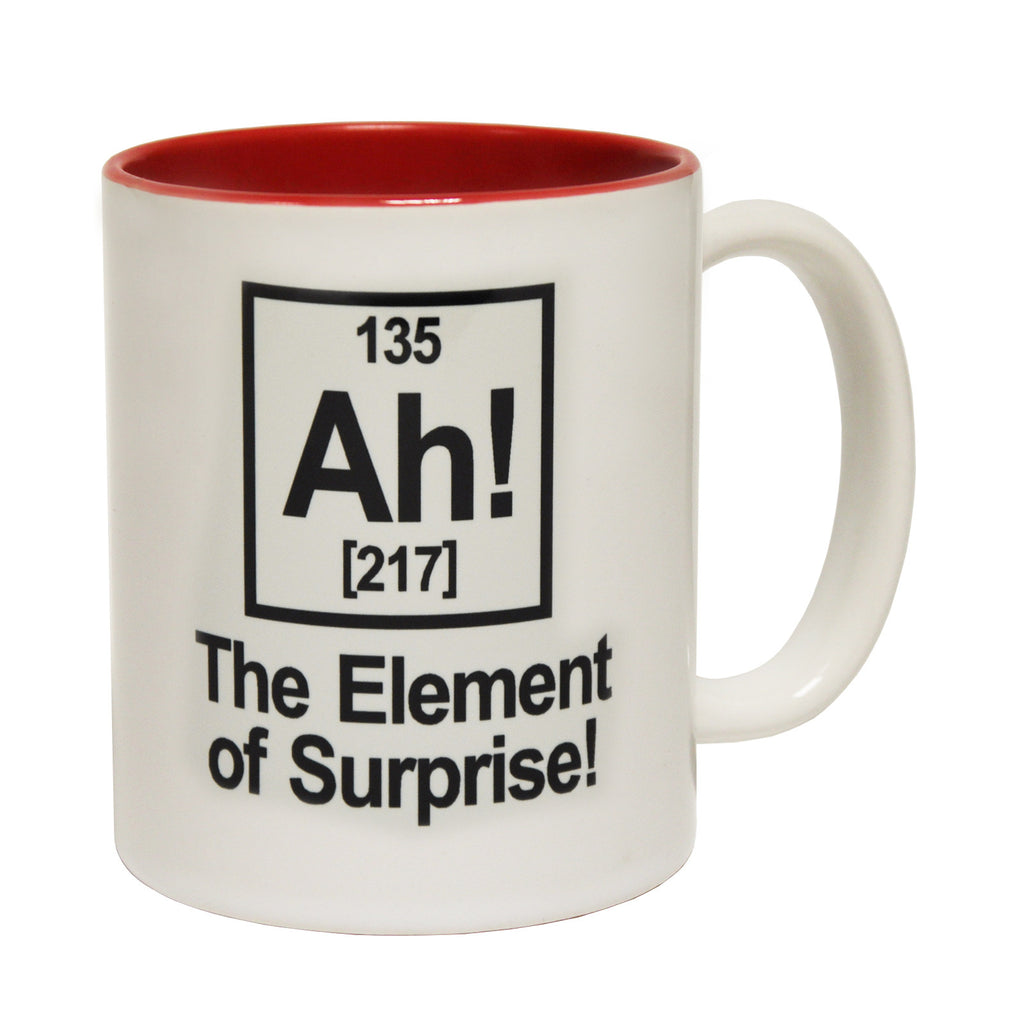 123t The Element Of Surprise Design Funny Mug