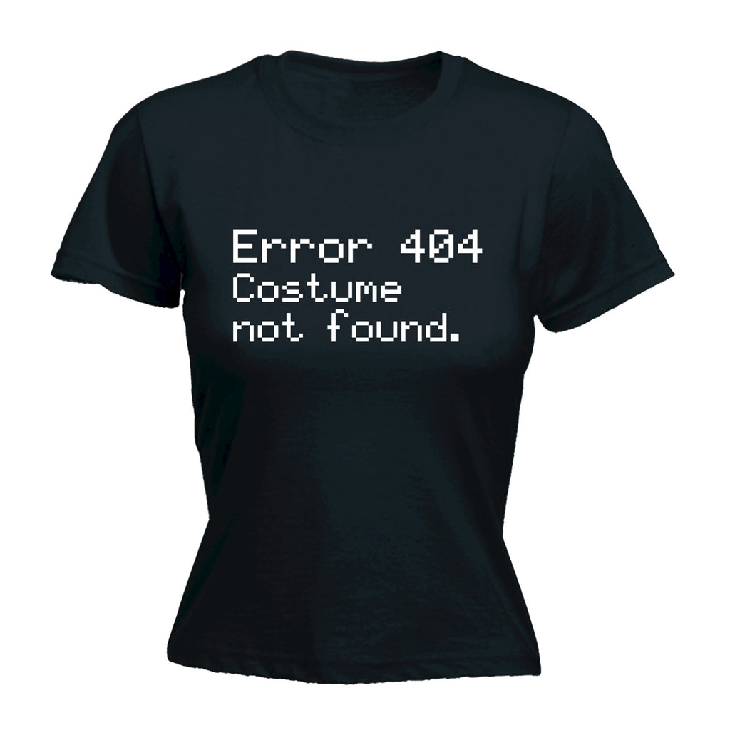 123t Women's Error 404 Costume Not Found Funny T-Shirt