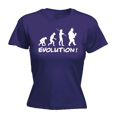 123t Women's Evolution Fat Funny T-Shirt