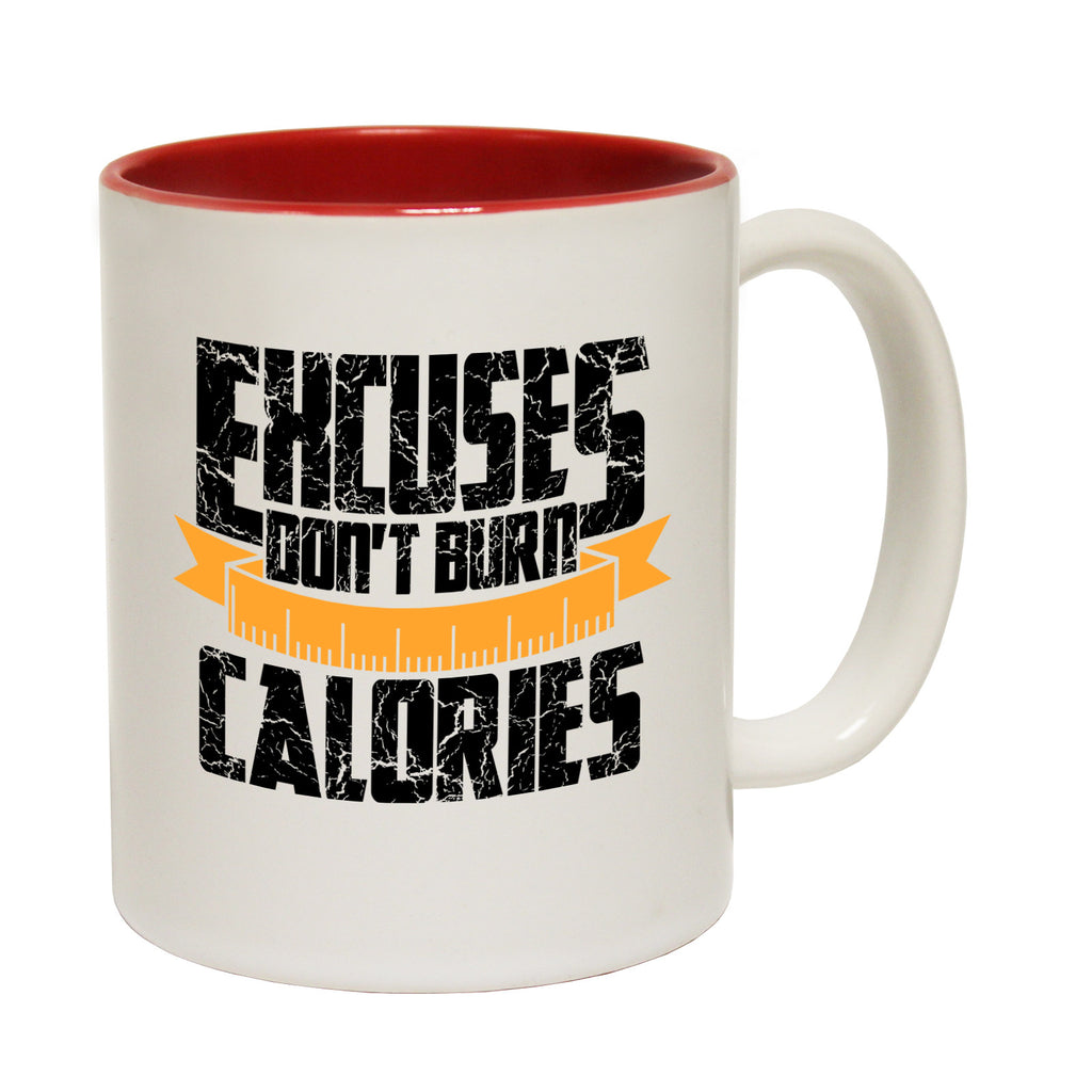 Personal Best Excuses Don't Burn Calories Running Funny Running Mug