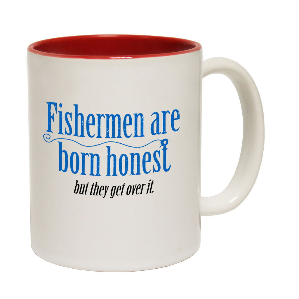 Drowning Worms Fishermen Are Born Honest But They Get Over It Funny Mug
