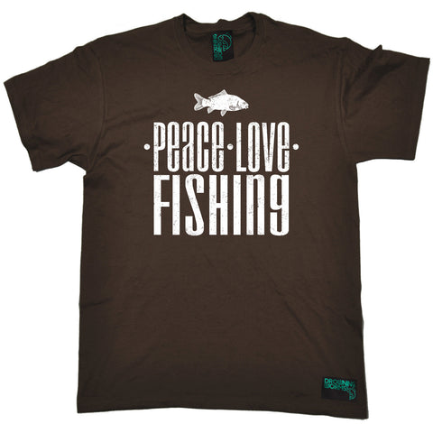 Drowning Worms Men's Peace Love Fishing T-Shirt