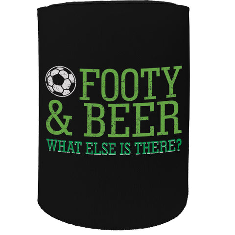 123t Stubby Holder - Footy Beer Football Soccer - Funny Novelty Birthday Gift Joke Beer Can Bottle