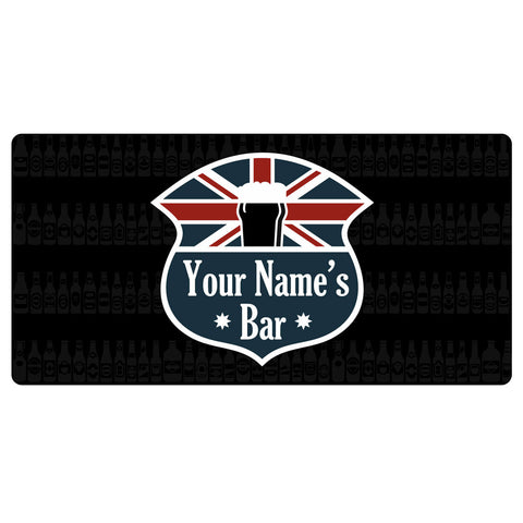 123t Union Jack Your Name's Bar Personalised Funny Custom Bar Runner