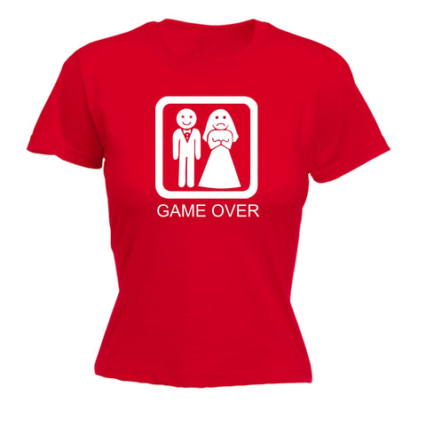 123t Women's Game Over Sad Bride Funny T-Shirt