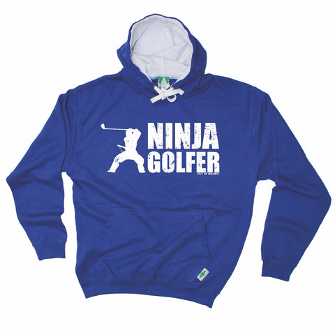 Out Of Bounds Ninja Golfer Golfing Hoodie