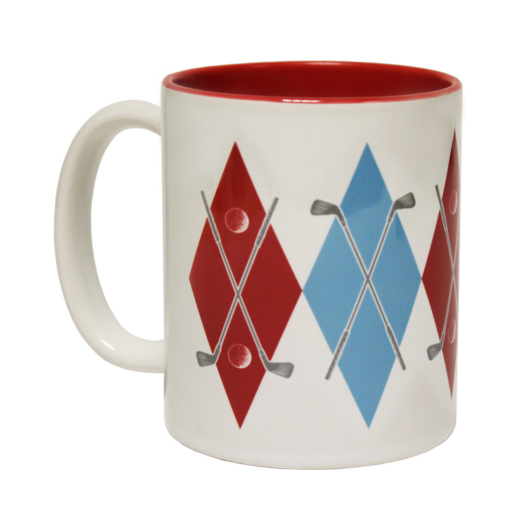 Out Of Bounds Argyle Funny Mug