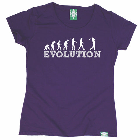 Out Of Bounds Women's Evolution Golf Golfing T-Shirt