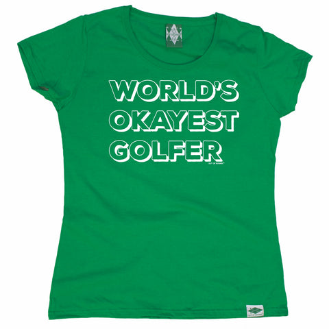 Out Of Bounds Women's World's Okayest Golfer Golfing T-Shirt