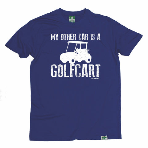Out Of Bounds Men's My Other Car Is A Golfcart Golfing T-Shirt