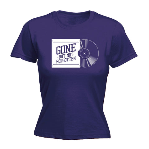123t Women's Gone But Not Forgotten Vinyl Sleeve Funny T-Shirt
