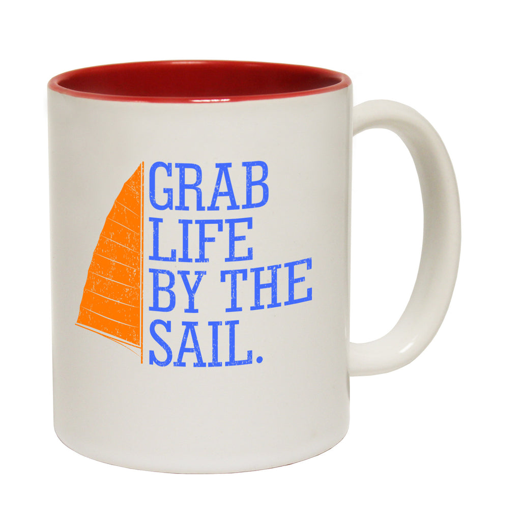 Ocean Bound Grab Life By The Sail Funny Mug