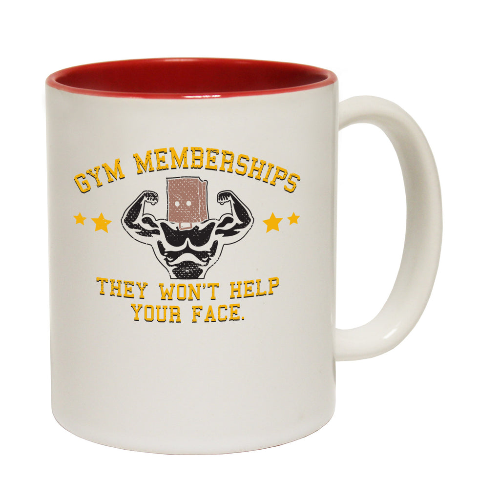 SWPS Gym Memberships They Won't Help Your Face Funny Mug