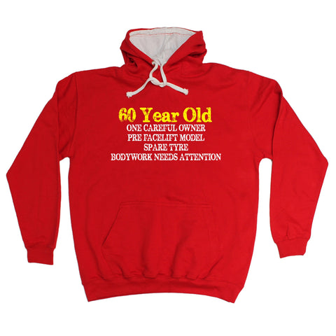 123t 60 Year Old ... One Careful Owner Funny Hoodie, 123t