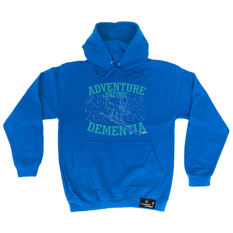 Powder Monkeez Adventure Before Dementia Ski Graphic Design Skiing Hoodie