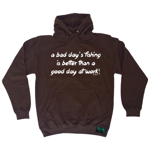 Drowning Worms A Bad Day's Fishing Better Than A Good Day At Work Hoodie