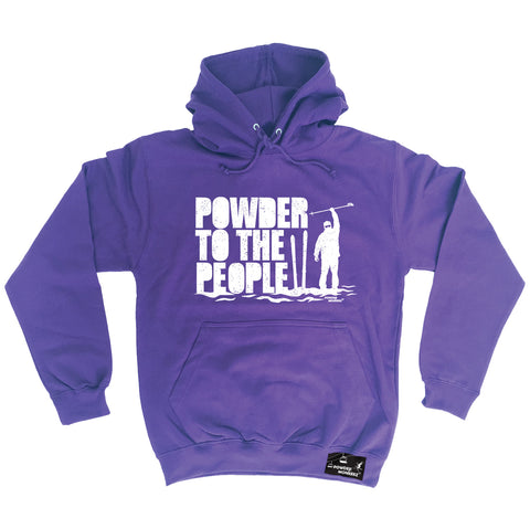 Powder Monkeez Powder To The People Skiing Snowboarding Hoodie