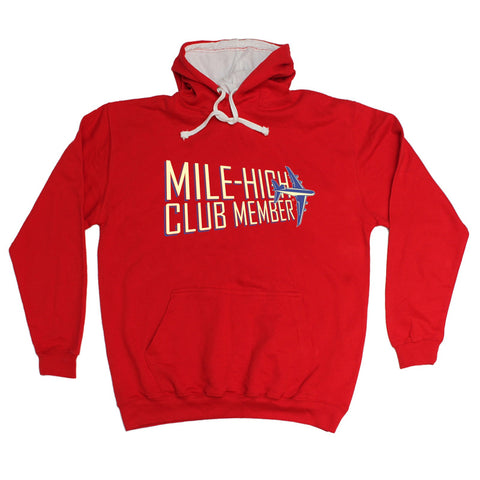 123t Mile High Club Member Funny Hoodie