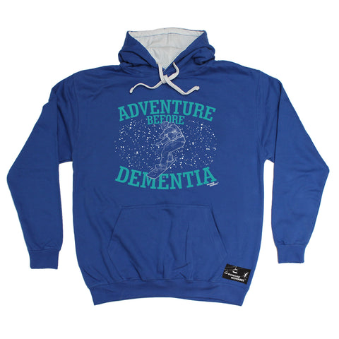 Powder Monkeez Adventure Before Dementia Snowboard Graphic Design Snowboarding Hoodie
