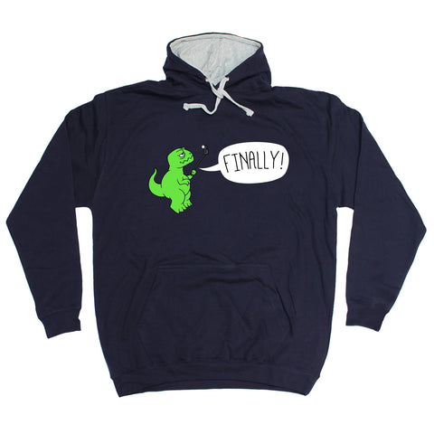 123t USA T-Rex Finally Funny Hoodie