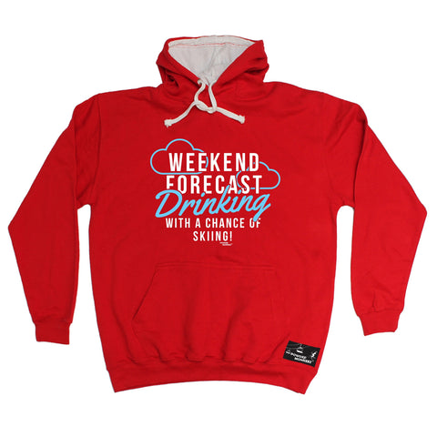 Powder Monkeez Weekend Forecast Drinking Skiing Ski Hoodie