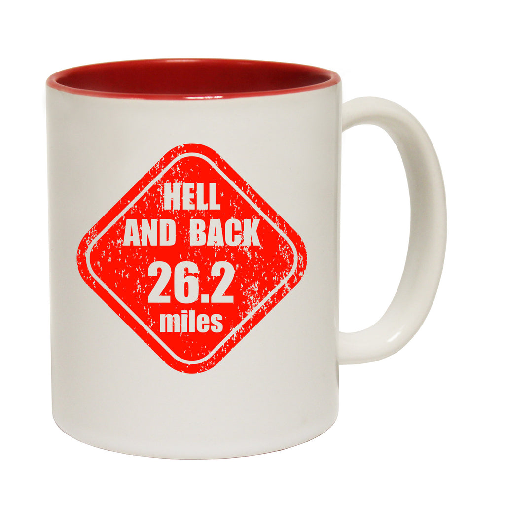 Personal Best Hell And Back 26.2 Miles Funny Running Mug