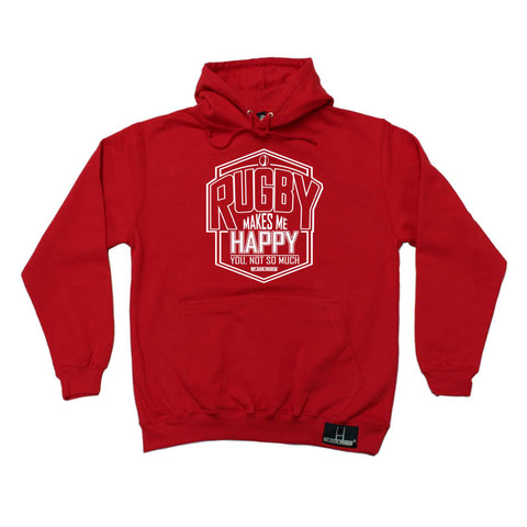 Up and Under - Rugby Makes Me Happy - Rugby HOODIE
