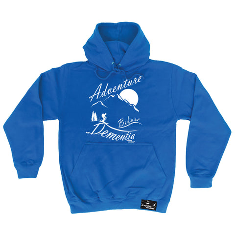 Powder Monkeez Adventure Before Dementia Skiing Ski Hoodie