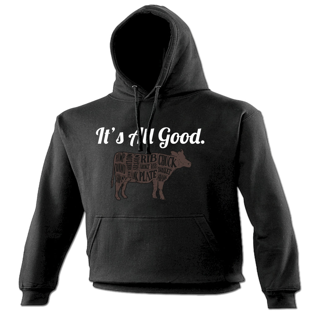 123t It's All Good Beef Cow Design Funny Hoodie