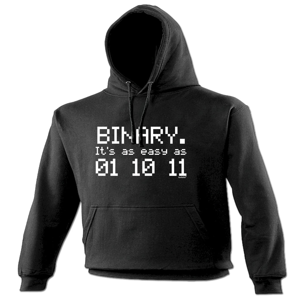 123t Binary Its ... Easy As 01 10 11 Funny Hoodie